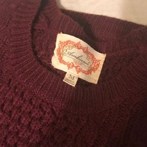 Forever 21 Maroon knit sweater